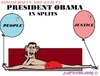 Cartoon: Obama (small) by cartoonharry tagged obama,splits,justice,people,guilty,zimmerman,toonpool