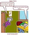 Cartoon: Oma Toch (small) by cartoonharry tagged sarcasme,kussen,cartoonharry