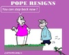 Cartoon: Pope Benedict (small) by cartoonharry tagged pope,benedict,rome,catholic,church,step,gay,cartoons,cartoonists,cartoonharry,dutch,toonpool