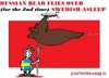 Cartoon: Russian Bear (small) by cartoonharry tagged sweden,russia,airforce,asleep,guard,asterix,cartoons,cartoonists,cartoonharry,dutch,toonpool