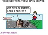 Cartoon: Seal (small) by cartoonharry tagged holland,drente,seal,tomtom,cartoons,cartoonists,cartoonharry,dutch,toonpool