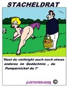 Cartoon: Stacheldrat (small) by cartoonharry tagged stacheldrat,sexy,hinten,picknick,fest,cartoon,cartoonist,cartoonharry,dutch,toonpool
