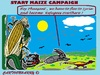 Cartoon: Start Maize Campaign (small) by cartoonharry tagged maize,campaign,pheasant,refugees,syria
