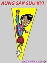 Cartoon: Super Woman (small) by cartoonharry tagged aungsansuukyi,supergirl,caricature,cartoonist,cartoonharry,dutch,toonpool