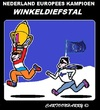 Cartoon: Winkeldiefstal (small) by cartoonharry tagged winkeldiefstal,nederland,kampioen,europa