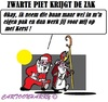 Cartoon: Zwarte Piet is weg (small) by cartoonharry tagged nederland,zwartepiet,kerstman,sinterklaas
