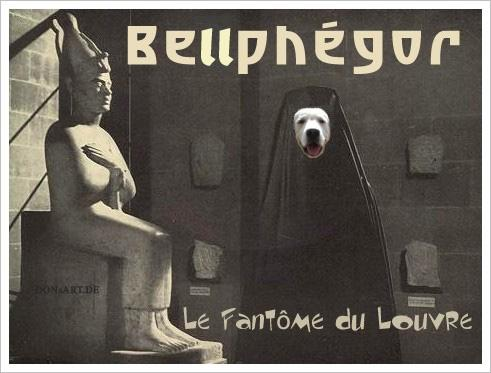 Cartoon: Bellphegor (medium) by Vanessa tagged louvre,france,frankreich,bellen,wuff,tiere,hund
