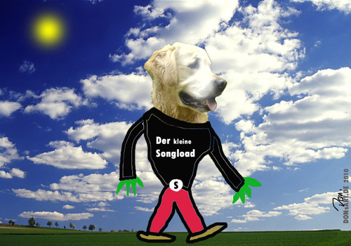Cartoon: Der kleine Songload (medium) by Vanessa tagged dog,song,tiere,hund,load
