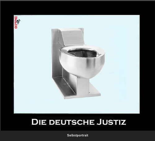 Cartoon: Die deutsche Justiz (medium) by Vanessa tagged germany,deutschland,justiz,richter,toilet