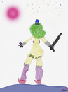 Cartoon: PO-LIZEI (small) by Vanessa tagged polizei,keppler,email,weltall,planet,extraterrestrial