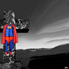 Cartoon: The Resurrection (small) by Vanessa tagged religion,church,christentum,superman,kirche,kreuzigung,resurrection,auferstehung