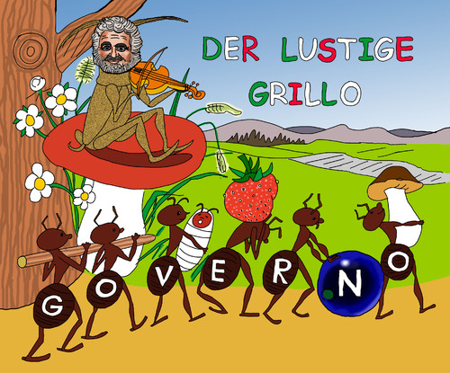 Cartoon beppe grillo medium by pascal kirchmair tagged stelle