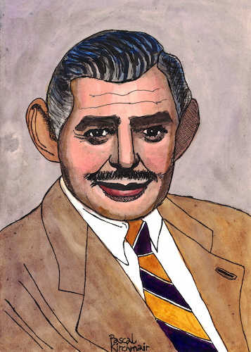 Cartoon: Clark Gable (medium) by Pascal Kirchmair tagged clark,gable,portrait,retrato,pascal,kirchmair,desenho,dibujo,drawing,caricature,karikatur,ritratto,zeichnung,dessin,disegno,illustration,ilustracion,illustrazione,ilustracao,illustratie,tekening,teckning,ritning,cartoon,cartum,portret,usa,hollywood,ohio,la,los,angeles,celebrity,actor,star,clark,gable,portrait,retrato,pascal,kirchmair,desenho,dibujo,drawing,caricature,karikatur,ritratto,zeichnung,dessin,disegno,illustration,ilustracion,illustrazione,ilustracao,illustratie,tekening,teckning,ritning,cartoon,cartum,portret,usa,hollywood,ohio,la,los,angeles,celebrity,actor,star