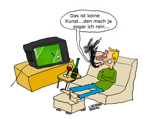 Cartoon: Couch Potato (medium) by Pascal Kirchmair tagged consumer,fernbedienungsathlet,sportkonsument,potato,couch,bierbauchtrainierer,extremraucher,kampftrinker,biertrinker,stubenhocker,sesselpupser,aufreißen,klappe,im,weltmeister,pseudofußballer,sports,consommateur,de,sport