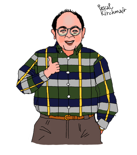 Cartoon: George Costanza (medium) by Pascal Kirchmair tagged newyork,manhattan,upper,west,side,sitcom,seinfeld,george,costanza,jason,alexander,cartoon,caricature,karikatur,ilustracion,illustration,pascal,kirchmair,dibujo,desenho,drawing,zeichnung,disegno,ilustracao,illustrazione,illustratie,dessin,de,presse,du,jour,art,of,the,day,tekening,teckning,cartum,vineta,comica,vignetta,caricatura,humor,humour,political,portrait,retrato,ritratto,portret,serie,series,tv,newyork,manhattan,upper,west,side,sitcom,seinfeld,george,costanza,jason,alexander,cartoon,caricature,karikatur,ilustracion,illustration,pascal,kirchmair,dibujo,desenho,drawing,zeichnung,disegno,ilustracao,illustrazione,illustratie,dessin,de,presse,du,jour,art,of,the,day,tekening,teckning,cartum,vineta,comica,vignetta,caricatura,humor,humour,political,portrait,retrato,ritratto,portret,serie,series,tv
