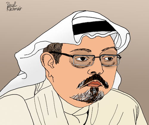 Cartoon: Jamal Khashoggi (medium) by Pascal Kirchmair tagged jamal,khashoggi,saudi,arabia,arabien,mord,meurtre,murder,homicidio,omicidio,uccisione,mohammad,bin,salman,illustration,drawing,zeichnung,pascal,kirchmair,cartoon,caricature,karikatur,ilustracion,dibujo,desenho,ink,disegno,ilustracao,illustrazione,illustratie,dessin,de,presse,du,jour,art,of,the,day,tekening,teckning,cartum,vineta,comica,vignetta,caricatura,portrait,retrato,ritratto,portret,kunst,mbs,turkey,consulate,istanbul,assassination,journalist,washington,post,usa,citizen,saudis,giornalista,jornalista,periodista,crimen,asesinato,jamal,khashoggi,saudi,arabia,arabien,mord,meurtre,murder,homicidio,omicidio,uccisione,mohammad,bin,salman,illustration,drawing,zeichnung,pascal,kirchmair,cartoon,caricature,karikatur,ilustracion,dibujo,desenho,ink,disegno,ilustracao,illustrazione,illustratie,dessin,de,presse,du,jour,art,of,the,day,tekening,teckning,cartum,vineta,comica,vignetta,caricatura,portrait,retrato,ritratto,portret,kunst,mbs,turkey,consulate,istanbul,assassination,journalist,washington,post,usa,citizen,saudis,giornalista,jornalista,periodista,crimen,asesinato