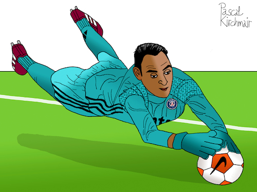 Cartoon: Keylor Navas (medium) by Pascal Kirchmair tagged keilor,keylor,antonio,navas,gamboa,costa,rica,foot,football,soccer,champions,league,futebol,futbol,psg,paris,st,saint,germain,goalkeeper,goalie,tormann,gardien,de,but,torhüter,portero,portiere,calcio,guarda,redes,goleiro,arquero,illustration,drawing,zeichnung,pascal,kirchmair,cartoon,caricature,karikatur,ilustracion,dibujo,desenho,ink,disegno,ilustracao,illustrazione,illustratie,dessin,presse,du,jour,art,of,the,day,tekening,teckning,cartum,vineta,comica,vignetta,caricatura,portrait,porträt,portret,retrato,ritratto,keilor,keylor,antonio,navas,gamboa,costa,rica,foot,football,soccer,champions,league,futebol,futbol,psg,paris,st,saint,germain,goalkeeper,goalie,tormann,gardien,de,but,torhüter,portero,portiere,calcio,guarda,redes,goleiro,arquero,illustration,drawing,zeichnung,pascal,kirchmair,cartoon,caricature,karikatur,ilustracion,dibujo,desenho,ink,disegno,ilustracao,illustrazione,illustratie,dessin,presse,du,jour,art,of,the,day,tekening,teckning,cartum,vineta,comica,vignetta,caricatura,portrait,porträt,portret,retrato,ritratto