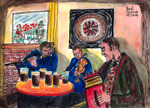 Cartoon: Pub Music (medium) by Pascal Kirchmair tagged irish,pub,music,spiddal,county,galway,moments,bernd,weisbrod,illustration,drawing,zeichnung,pascal,kirchmair,irische,impressionen,cartoon,caricature,karikatur,ilustracion,dibujo,desenho,ink,disegno,ilustracao,illustrazione,illustratie,dessin,de,presse,du,jour,art,of,the,day,tekening,teckning,cartum,vineta,comica,vignetta,caricatura,portrait,retrato,ritratto,portret,aquarelle,watercolor,watercolour,acquarello,acuarela,aguarela,aquarela,irland,ireland,guinness,beer,bier,heimelig,irlanda,irlandesi,irlande,tradition,irish,pub,music,spiddal,county,galway,moments,bernd,weisbrod,illustration,drawing,zeichnung,pascal,kirchmair,irische,impressionen,cartoon,caricature,karikatur,ilustracion,dibujo,desenho,ink,disegno,ilustracao,illustrazione,illustratie,dessin,de,presse,du,jour,art,of,the,day,tekening,teckning,cartum,vineta,comica,vignetta,caricatura,portrait,retrato,ritratto,portret,aquarelle,watercolor,watercolour,acquarello,acuarela,aguarela,aquarela,irland,ireland,guinness,beer,bier,heimelig,irlanda,irlandesi,irlande,tradition
