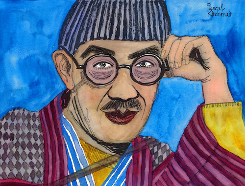 Cartoon: Tsuguharu Foujita (medium) by Pascal Kirchmair tagged tokio,leonard,tsuguharu,foujita,dibuix,illustration,drawing,zeichnung,pascal,kirchmair,cartoon,caricature,karikatur,ilustracion,dibujo,desenho,ink,disegno,ilustracao,illustrazione,illustratie,dessin,de,presse,du,jour,art,of,the,day,tekening,teckning,cartum,vineta,comica,vignetta,caricatura,portrait,porträt,portret,retrato,ritratto,japan,japon,japao,japones,tokyo,france,paris,expressionismus,expressionism,frankreich,tokio,leonard,tsuguharu,foujita,dibuix,illustration,drawing,zeichnung,pascal,kirchmair,cartoon,caricature,karikatur,ilustracion,dibujo,desenho,ink,disegno,ilustracao,illustrazione,illustratie,dessin,de,presse,du,jour,art,of,the,day,tekening,teckning,cartum,vineta,comica,vignetta,caricatura,portrait,porträt,portret,retrato,ritratto,japan,japon,japao,japones,tokyo,france,paris,expressionismus,expressionism,frankreich