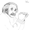 Cartoon: Albert Einstein (small) by Pascal Kirchmair tagged albert einstein theory of relativity illustration drawing zeichnung pascal kirchmair cartoon caricature karikatur ilustracion dibujo desenho ink disegno ilustracao illustrazione illustratie dessin de presse du jour art the day tekening teckning cartum vineta comica vignetta caricatura portrait retrato ritratto portret princeton ulm gravitation relativitätstheorie genius genie mastermind wiz whizz whiz genio