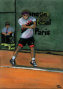 Cartoon: Andre Agassi (small) by Pascal Kirchmair tagged tournoi turnier champion grand slam andre agassi french open roland garros masters tournament tennis