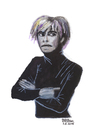 Cartoon: Andy Warhol (small) by Pascal Kirchmair tagged andy,warhol,pop,art,studio,54,new,york,city,artist,caricature,karikatur,portrait,aquarell,watercolour,manhattan,usa,grafiker