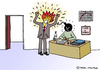 Cartoon: Anger Management (small) by Pascal Kirchmair tagged time,bomb,tickende,zeitbombe,bombe,retardement,anger,management,aggressionsbewältigung,cartoon,zorn,wut,ärger,chef,arbeit,hass,caricature,karikatur,angestellter,büro,office,bureau