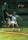 Cartoon: Björn Borg (small) by Pascal Kirchmair tagged tournament turnier all england championships björn borg tennis wimbledon grand slam retro vintage lawn london heiliger rasen