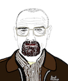 Cartoon: Breaking Bad (small) by Pascal Kirchmair tagged bryan cranston breaking bad walter white heisenberg cartoon caricature karikatur ilustracion illustration portrait retrato pascal kirchmair dibujo desenho drawing zeichnung ritratto disegno ilustracao illustrazione illustratie dessin du jour art of the day tekening teckning cartum vineta comica vignetta caricatura