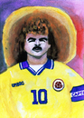 Cartoon: Carlos Valderrama (small) by Pascal Kirchmair tagged colombie,colombia,aquarell,karikatur,football,soccer,foot,calcio,carlos,alberto,valderrama,palacio,fußball,kolumbien