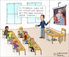 Cartoon: Die Schulpflicht (small) by Pascal Kirchmair tagged schulpflicht,schule,österreich,maria,theresia,karikatur,cartoon,humor,lustig,pascal,kirchmair