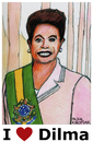 Cartoon: Dilma Rousseff (small) by Pascal Kirchmair tagged dilma rousseff karikatur portrait caricature brazil brasil brasilien präsidentin cartoon vignetta justice amtsenthebung impeachment