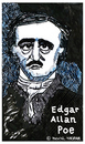 Cartoon: Edgar Allan Poe (small) by Pascal Kirchmair tagged schriftsteller,poet,autor,author,auteur,writer,edgar,allan,poe,caricature,cartoon,karikatur,portrait