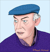 Cartoon: Eduardo Galeano (small) by Pascal Kirchmair tagged eduardo,galeano,caricatura,el,futbol,sol,sombra,karikatur,der,ball,ist,rund,die,offenen,adern,lateinamerikas,portrait,retrato,ritratto,dessin,dibujo,drawing,zeichnung,desenho,uruguay,montevideo,caricature,vignetta,las,venas,abiertas,de,america,latina