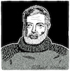 Cartoon: Ernest Hemingway (small) by Pascal Kirchmair tagged ernest miller hemingway karikatur portrait caricature retrato dibujo drawing dessin desenho porträt cartoon zeichnung ritratto caricatura portret tekening usa