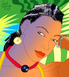 Cartoon: Fatoumata Diawara (small) by Pascal Kirchmair tagged fatoumata diawara illustration drawing zeichnung pascal kirchmair cartoon caricature karikatur ilustracion dibujo desenho ink disegno ilustracao illustrazione illustratie dessin de presse du jour art of the day tekening teckning cartum vineta comica vignetta caricatura portrait retrato ritratto portret kunst singer songwriter music musician musik musikerin mali ivory coast cote ivoire elfenbeinküste porträt exotic exotisch exotik exotique exotica exotico esotico esotica
