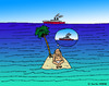 Cartoon: Die verpasste Chance (small) by Pascal Kirchmair tagged robinson crusoe insel stranded schiff ship gestrandet isle ile island hope hoffnung