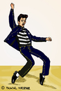 Cartoon: Jailhouse Rock (small) by Pascal Kirchmair tagged illustration elvis presley jailhouse rock cartoon vignetta karikatur caricature pelvis drawing zeichnung digital
