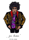 Cartoon: Jimi Hendrix (small) by Pascal Kirchmair tagged jimi,hendrix,karikatur,hey,joe,caricature,cartoon,dessin,humoristique,humour,humor,rock,pop,guitar,songwriter,guitarist,gitarrist,gratteur