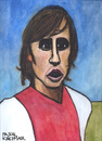 Cartoon: Johan Cruyff (small) by Pascal Kirchmair tagged johan,cruyff,portrait,cartoon,caricature,karikatur,ajax,amsterdam,holland,niederlande,dutch,football,footn,pays,bas,paesi,bassi,netherlands,paises,bajos