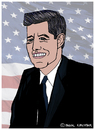 Cartoon: John F. Kennedy (small) by Pascal Kirchmair tagged john,kennedy,jfk,caricature,karikatur,portrait,usa,president,präsident