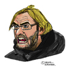 Cartoon: Jürgen Klopp (small) by Pascal Kirchmair tagged jürgen klopp caricature cartoon portrait karikatur dortmund trainer fußball soccer football foot futebol futbol calcio pallone
