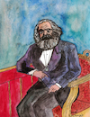 Cartoon: KARL MARX (small) by Pascal Kirchmair tagged karl marx portrait porträt retrato drawing desenho zeichnung dibujo dessin karikatur caricature pascal kirchmair ritratto watercolour disegno aquarell illustration ilustracao ilustracion trier marxismus sozialismus kommunismus socialism