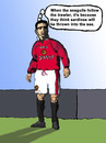 Cartoon: King Eric (small) by Pascal Kirchmair tagged king eric cantona manu seagulls henri michel sanctions equipe de france oh ah kung fu