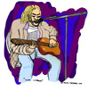 Cartoon: Kurt Cobain (small) by Pascal Kirchmair tagged song singer songwriter seattle the man who sold world kurt cobain nirvana