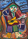 Cartoon: Le Guitariste (small) by Pascal Kirchmair tagged gitarrist guitarist guitarrista after pablo picasso cartoon caricature karikatur drawing zeichnung illustration illustrazione pascal kirchmair ilustracion portrait retrato dibujo desenho ritratto disegno ilustracao illustratie dessin du jour art of the day tekening teckning cartum vineta comica vignetta caricatura acryl acrilico acrylique acrylic