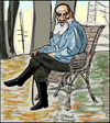 Cartoon: Leo Tolstoi (small) by Pascal Kirchmair tagged leo lew tolstoi tolstoy caricature karikatur portrait dessin drawing zeichnung russia russie rußland