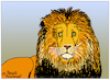 Cartoon: Lion (small) by Pascal Kirchmair tagged lion,löwe,king,roi,jungle,könig,dschungel,cartoon,drawing,dessin,dibujo,desenho,disegno,zeichnung,illustration,leon,leone,leao,giungla,selva,jungla,ilustracion,ilustracao,illustrazione