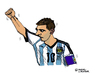 Cartoon: Lionel Messi (small) by Pascal Kirchmair tagged argentina fußball portrait futebol futbol foot football lionel messi caricature cartoon karikatur argentinien brasilien wm star world cup soccer