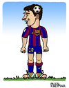 Cartoon: Lionel Messi (small) by Pascal Kirchmair tagged lionel leo messi caricature karikatur cartoon fußball soccer foot football fc barcelona